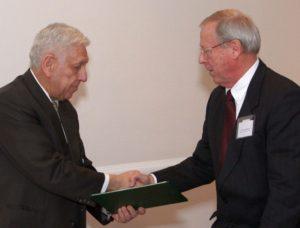 Barát Tamás, az AmHunCham NY és Balogh Gyula, a Hungarian Innovation Center elnöke.