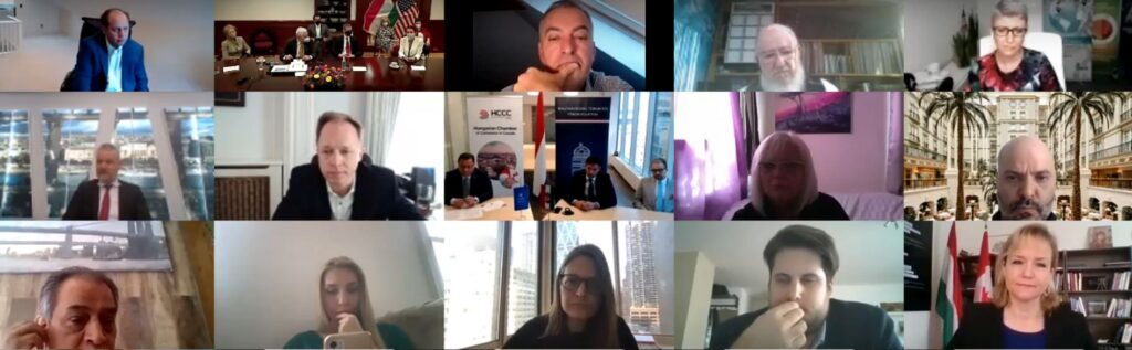 Az AmHunCham 5. közgyűlése 2014.04.14. A zoom találkozó néhány résztvevője