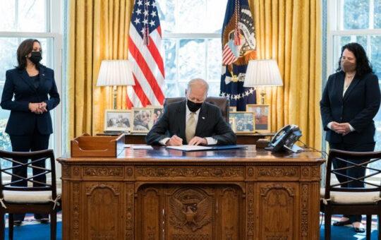 President Biden signature