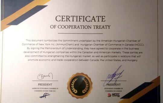 Certificate - Memorandum of Understanding